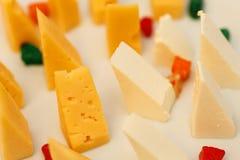Varietà di formaggio Fotografia Stock Libera da Diritti