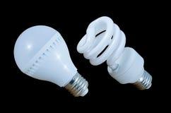 Varietà di lampade Immagini Stock