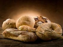 Varietà di pane fotografia stock