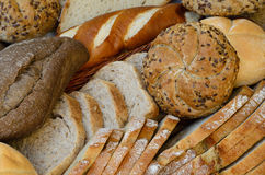 Varietà di pane fresco Fotografia Stock
