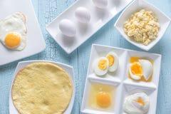 Varietà di piatti dell'uovo Immagini Stock Libere da Diritti