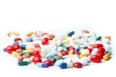 Varietà di pillole Fotografie Stock