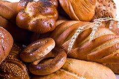 Varietà di primo piano del pane Immagini Stock