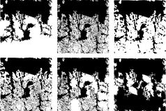 Varietà di quadrati del grunge illustrazione vettoriale