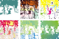Varietà di quadrati del grunge Fotografia Stock Libera da Diritti