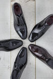 Varietà di scarpe brillanti per gli uomini Fotografia Stock Libera da Diritti
