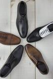 Varietà di scarpe per gli uomini Fotografia Stock