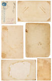 Varietà di scarti di carta dell'annata Fotografia Stock Libera da Diritti