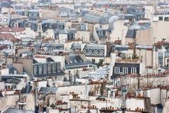 Varietà di tetti di Parigi Fotografia Stock
