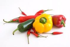 Varietà di peperoncini rossi freschi Immagine Stock Libera da Diritti