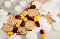 Varietà di pillole Immagini Stock