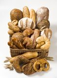 Varietà di prodotti cotti al forno Fotografia Stock