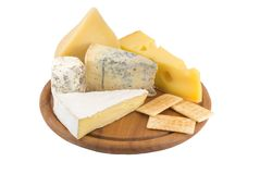 Varietes of cheese Royalty Free Stock Photos