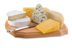 Varietes of cheese Stock Images