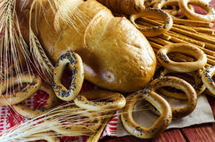 Varieties of bakery products Stock Photos