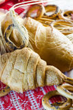 Varieties of bakery products Royalty Free Stock Images
