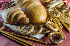 Varieties of bakery products Stock Photo