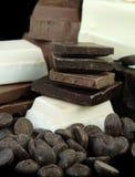 Varieties of Chocolate Stock Photos