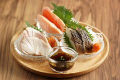 Varieties of grilled fish set fire to at least three fish cooked Stock Images