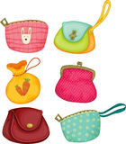 Varieties of hand bags Stock Images