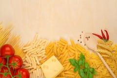 Varieties of pasta Royalty Free Stock Image