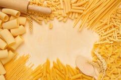Varieties of pasta Stock Photography