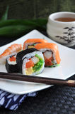Varieties sushi dish for lunch Royalty Free Stock Image