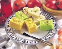 Varieties of Tasty Sweets Stock Photos