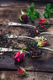 Varieties of tea brewing Stock Photo