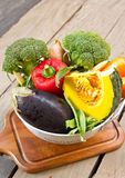 Varieties of vegetable in colander Royalty Free Stock Photos