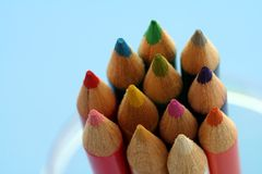 Variety. Of pencil colors Stock Images