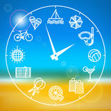 Variety of activities for the summer holidays Stock Photography