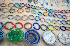 Variety of African souvenirs Royalty Free Stock Images