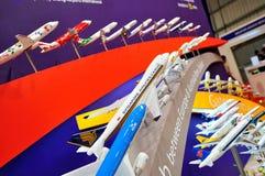 Variety of aircraft models at Singapore Airshow Royalty Free Stock Image