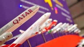 Variety of aircraft models at Singapore Airshow Royalty Free Stock Photo