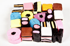 Variety of allsorts sweets Royalty Free Stock Photo