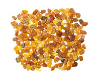 Variety of amber beads isolated on the white background Stock Image