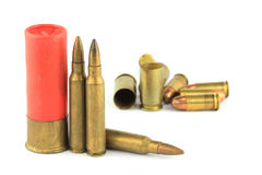Variety of ammunition Royalty Free Stock Image