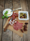 Variety of antipasti. Various cold meal used in mediterranean countries Stock Photo