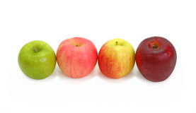 A variety of apples royalty free stock photography