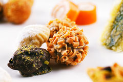 A variety of Arabic sweets on a white background Stock Image
