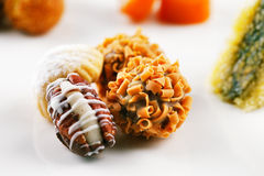 A variety of Arabic sweets on a white background Stock Photo