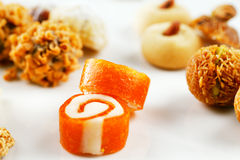 A variety of Arabic sweets on a white background Stock Images