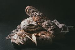 Variety of Artisan bread Royalty Free Stock Photography