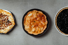 Variety of autumn pies Stock Photography