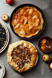 Variety of autumn pies Royalty Free Stock Images