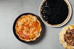Variety of autumn pies Royalty Free Stock Photos