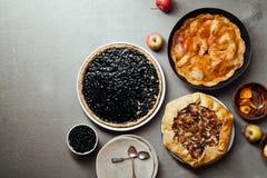 Variety of autumn pies Stock Photo