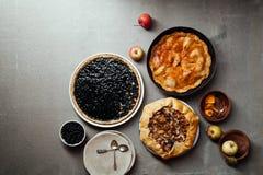 Variety of autumn pies Royalty Free Stock Photo