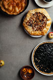 Variety of autumn pies Stock Images